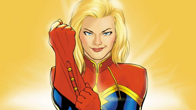 image: Marvel Captain Marvel. Art by David Lopez