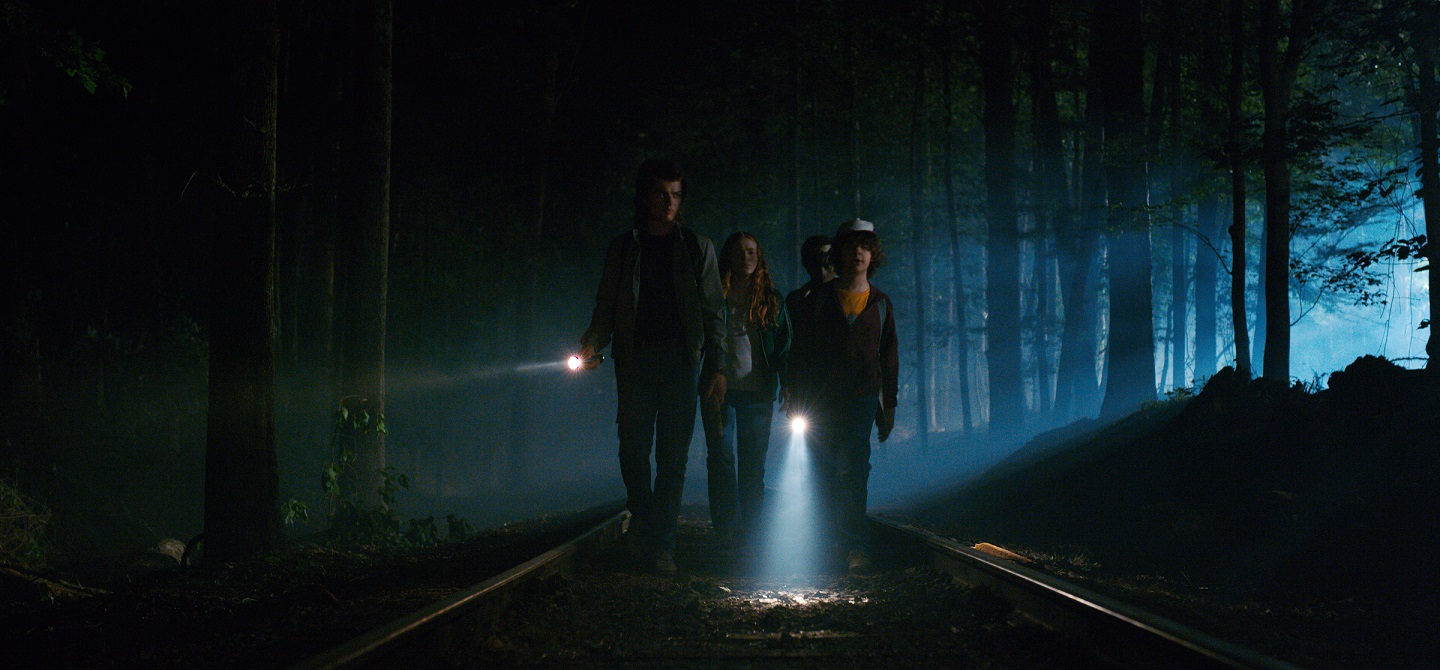 """Production still of """"Stranger Things 2"""" from Netflix"""
