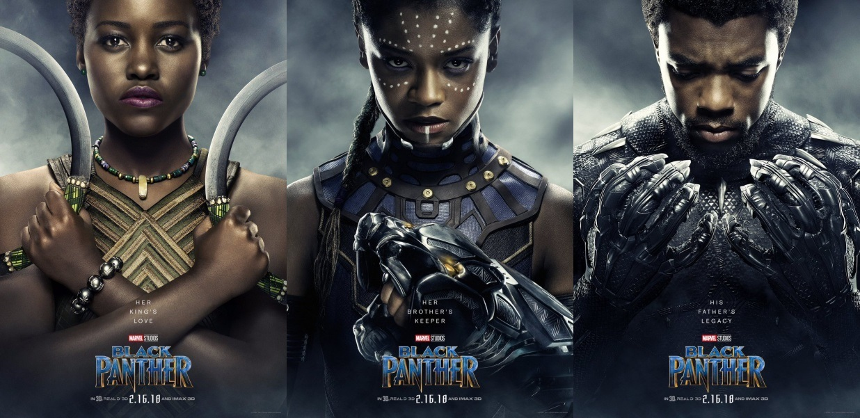 """Trio of """"Black Panther"""" character posters Image credit: Marvel Entertainment and Walt Disney Studios"""