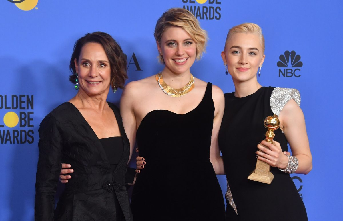 Laurie Metcalf, Greta Gerwig and Saoirse Ronan, lady bird, female directors, female characters study women in film