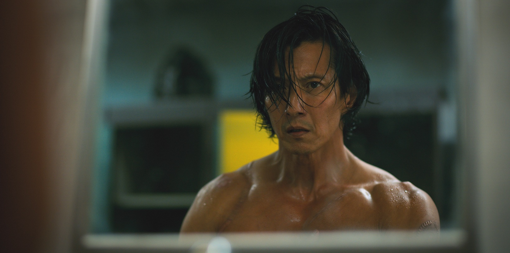 """Will Yun Lee as Takeshi Kovacs on """"Altered Carbon"""""""