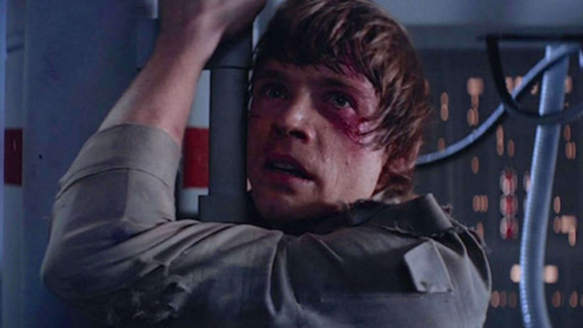 Mark Hamill as Luke Skywalker as Darth Vader reveals he's Luke's father in Star Wars: The Empire Strikes Back