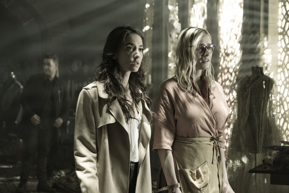 """THE MAGICIANS -- """"Twenty-Three"""" Episode 311 -- Pictured: (l-r) Stella Maeve as Julia Wicker, Olivia Taylor Dudley as Alice -- (Photo by: Eric Milner/Syfy)"""