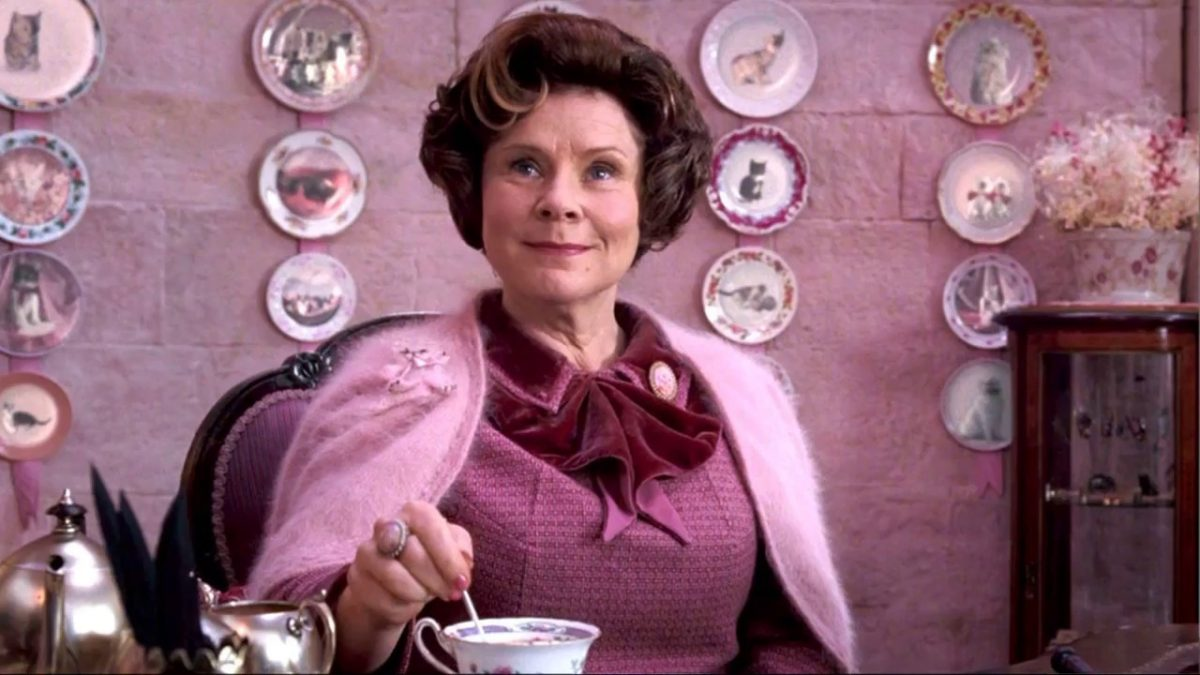 Dolores Umbridge played by Imelda Staunton in Harry Potter