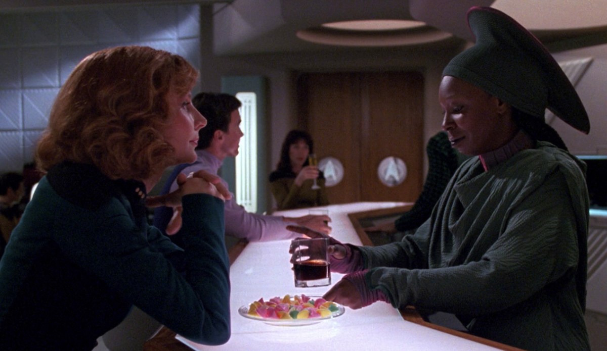Guinan and Beverly Crusher in Star Trek: The Next Generation