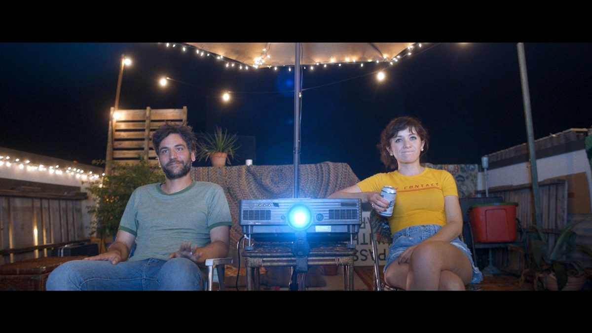 Josh Radnor as Paul and Noël Wells as Zoe in 'Social Animals'