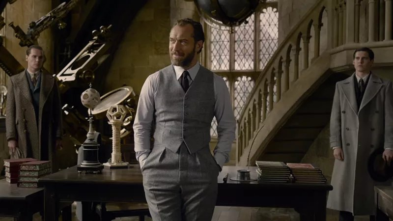 Albus Dumbledore (Jude Law) in Fantastic Beasts: The Crimes of Grindelwald