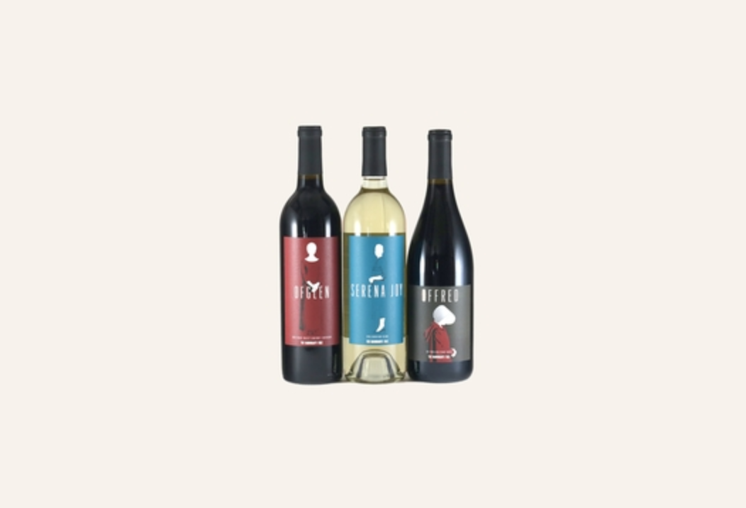 Lot18 released three Handmaid's Tale inspired wines, named after Offred, Ofglen, and Serena Joy