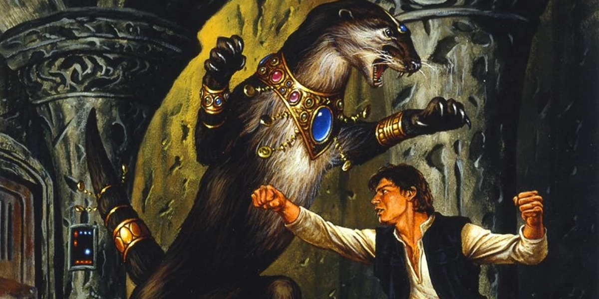 Star Wars Expanded Universe novels saw events such as Han Solo fighting the otter queen