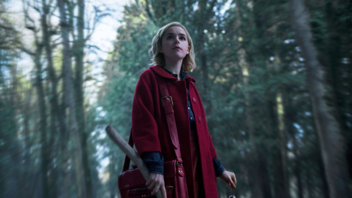 Kiernan Shipka as Sabrina in Netflix's the Chilling Adventures of Sabrina