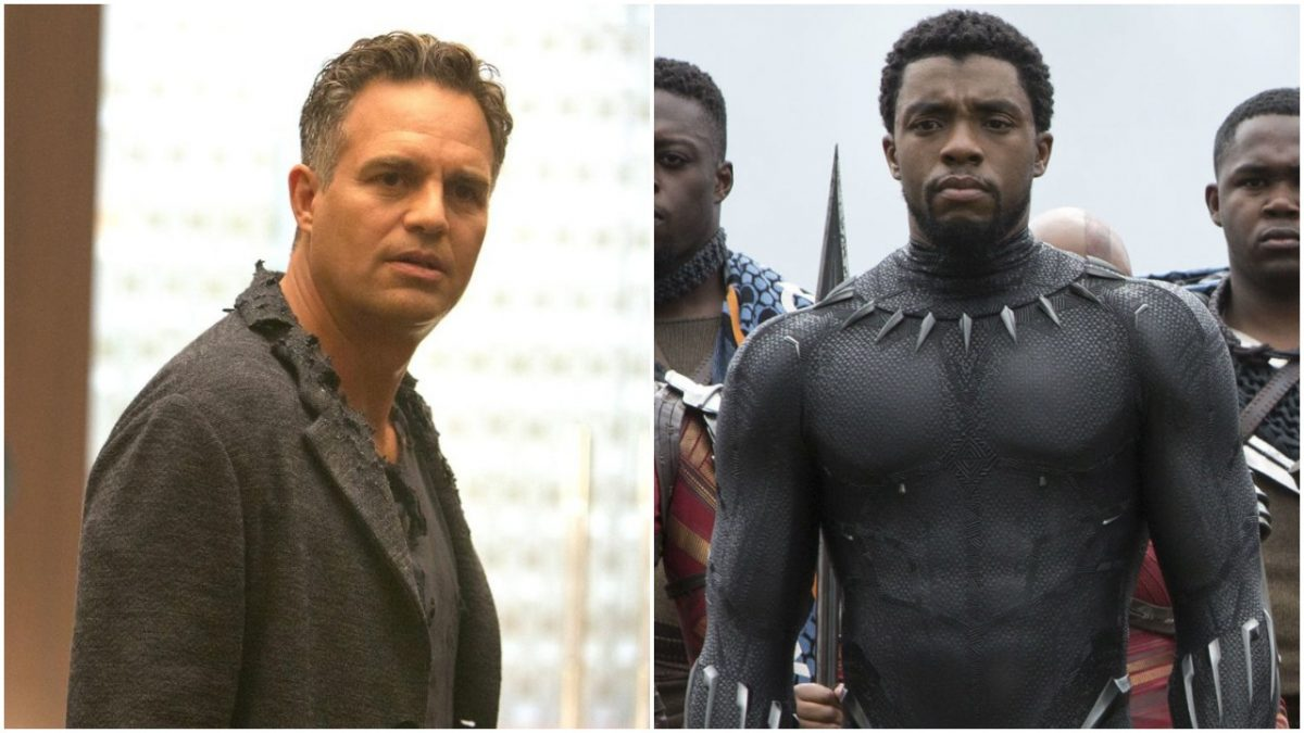 Mark Ruffalo and Chadwick Boseman in Avengers: Infinity War