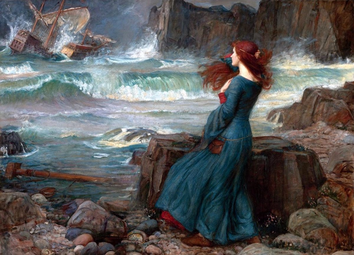 miranda in the tempest by john william waterhouse