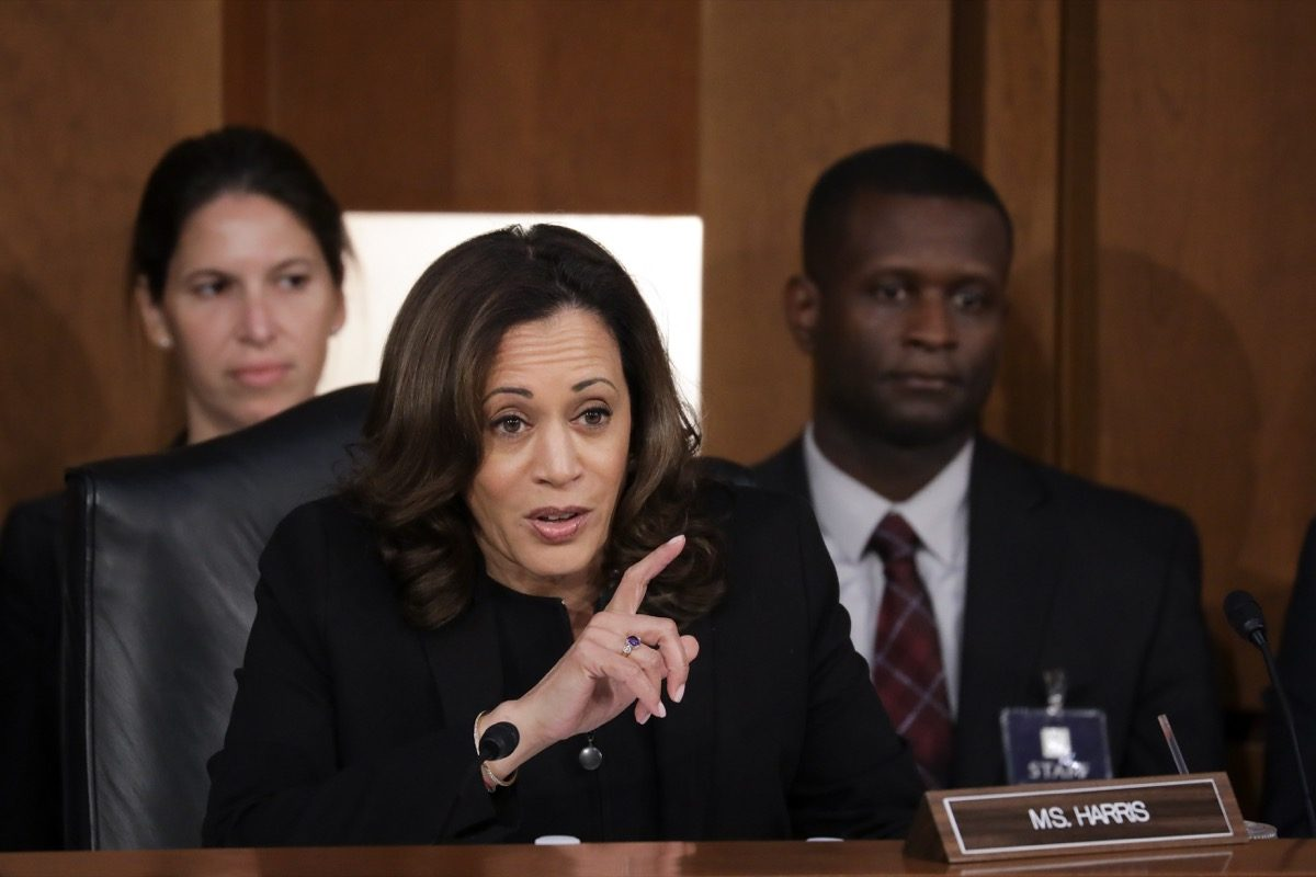 Senator Kamala Harris at Brett Kavanaugh Senate Supreme Court Confirmation Hearings