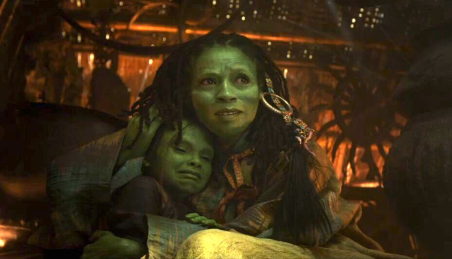 young gamora hugging her mom in Avengers: Infinity War