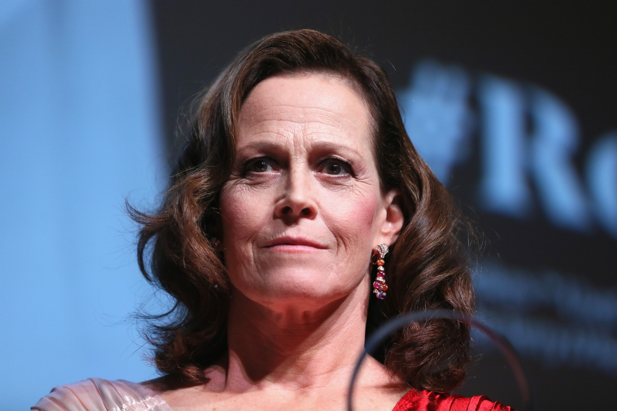 Sigourney Weaver meets the audience during the 13th Rome Film Fest at Auditorium Parco Della Musica on October 24, 2018 in Rome, Italy.