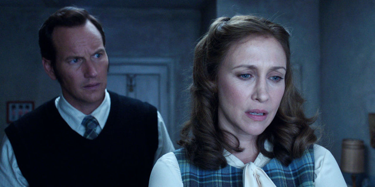 Ed Warren (Patrick Wilson) looks after his wife Lorraine (Vera Farmiga) in The Conjuring 2