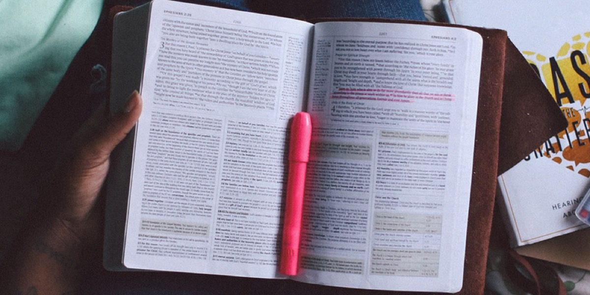 book with highlighter
