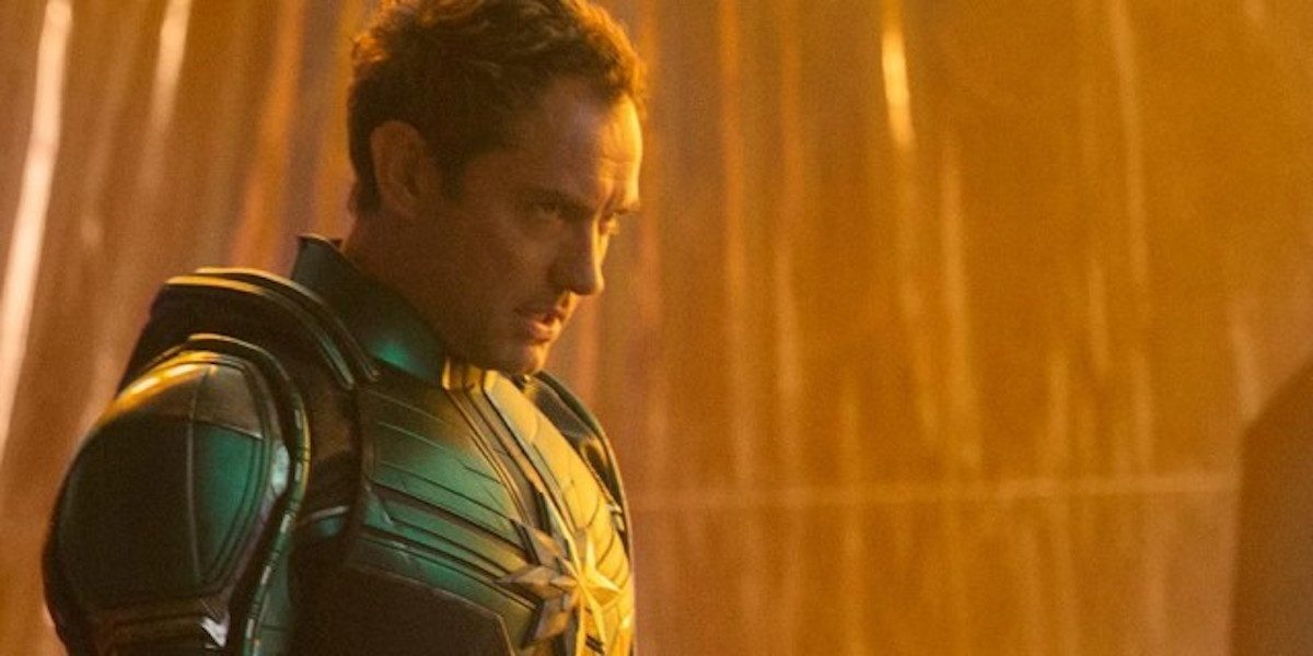 Jude Law stars in Captain Marvel
