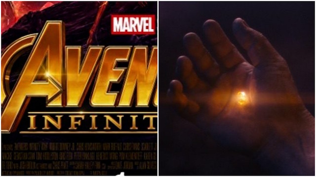 Avengers: Infinity War logo is the same color as the Soul Stone