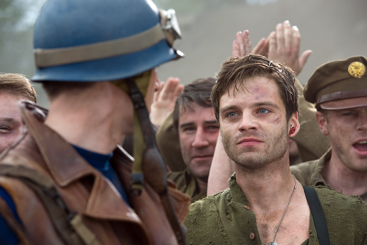 Sebastian Stan as Bucky Barnes in Captain America: The First Avenger