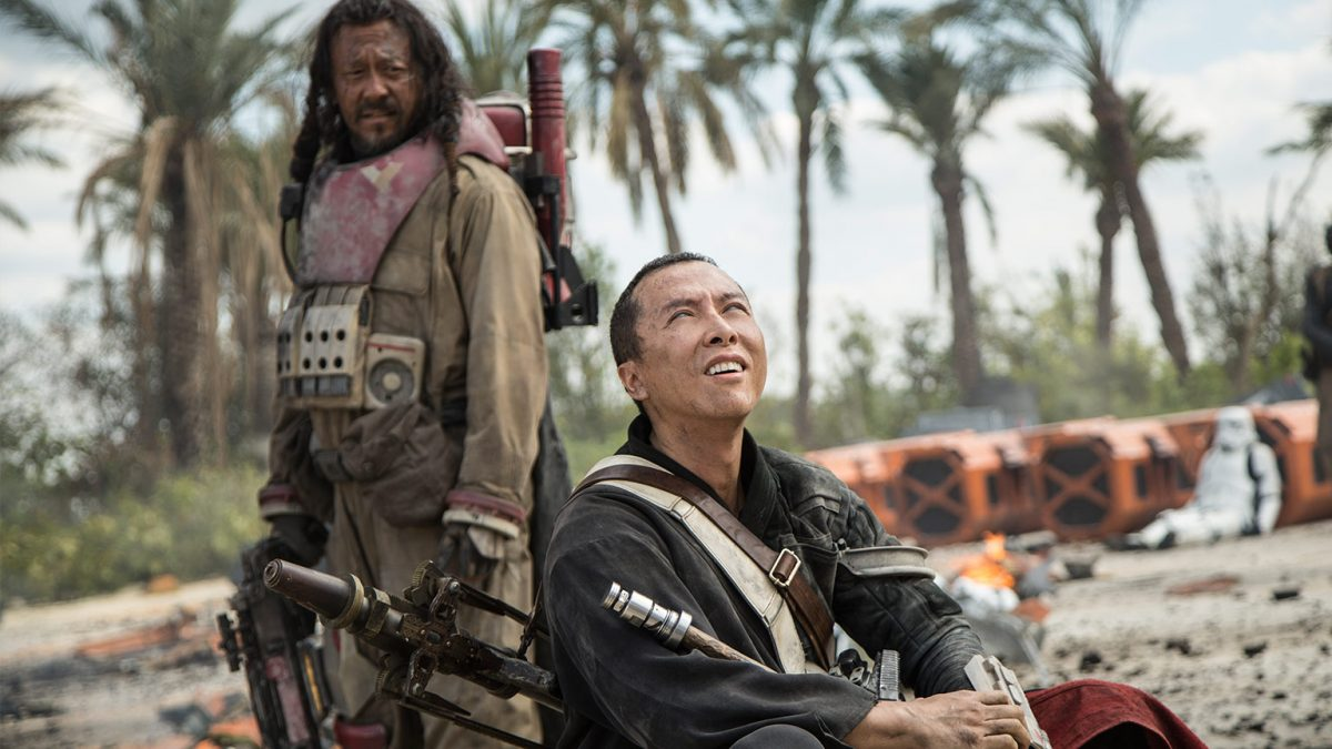 chirrut and baze in Rogue One