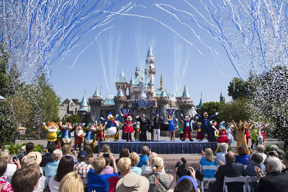 Disneyland, seen here celebrating their 60th anniversary, is hiking up ticket prices ahead of the opening of Galaxy's Edge.