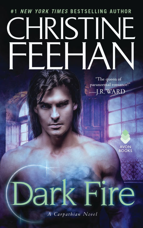 Cover of Dark Fire, a mm romance by Christine Feehan from Avon Books.