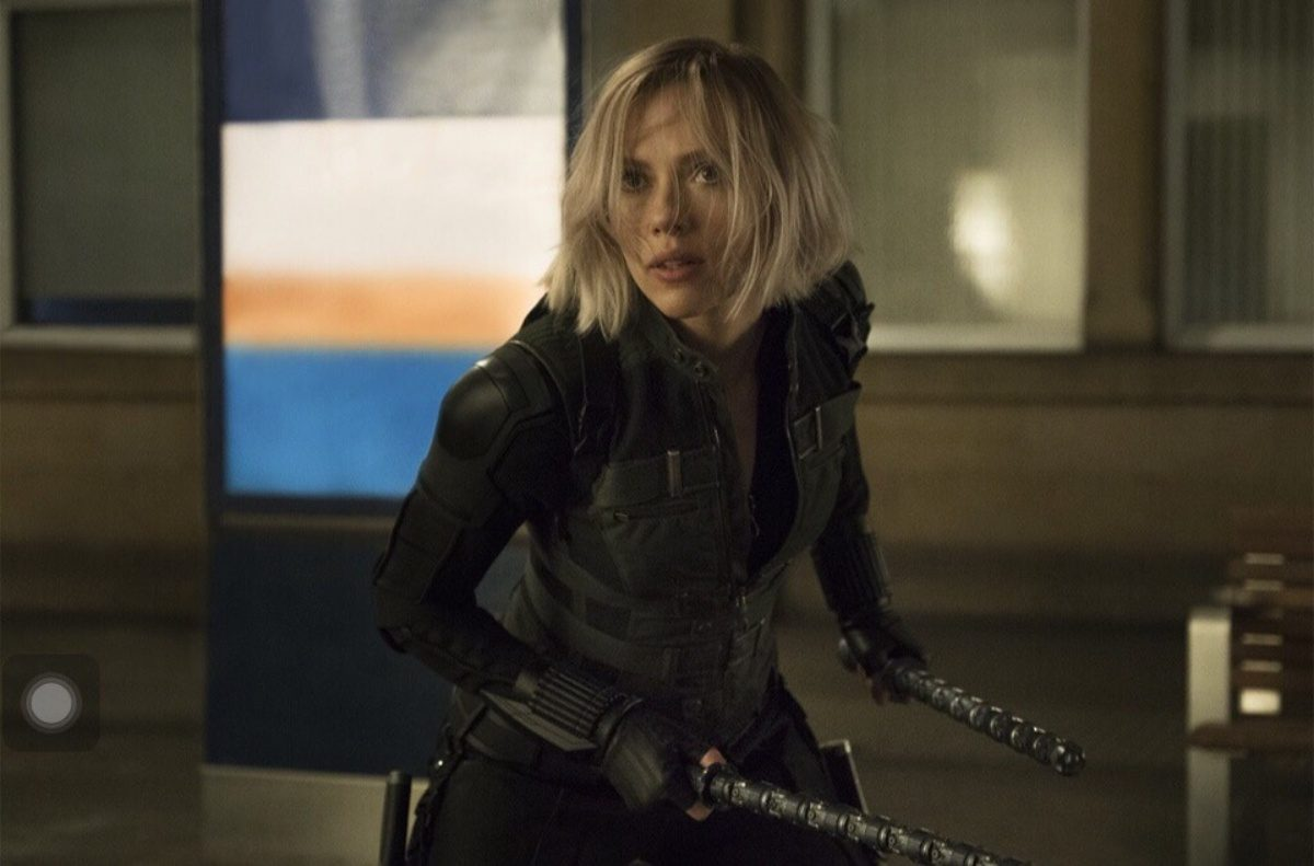Scarlett Johansson as Black Widow in Infinity War in one of the new scenes in which she had a speaking role, which is a blessing and a curse considering who the actress is.
