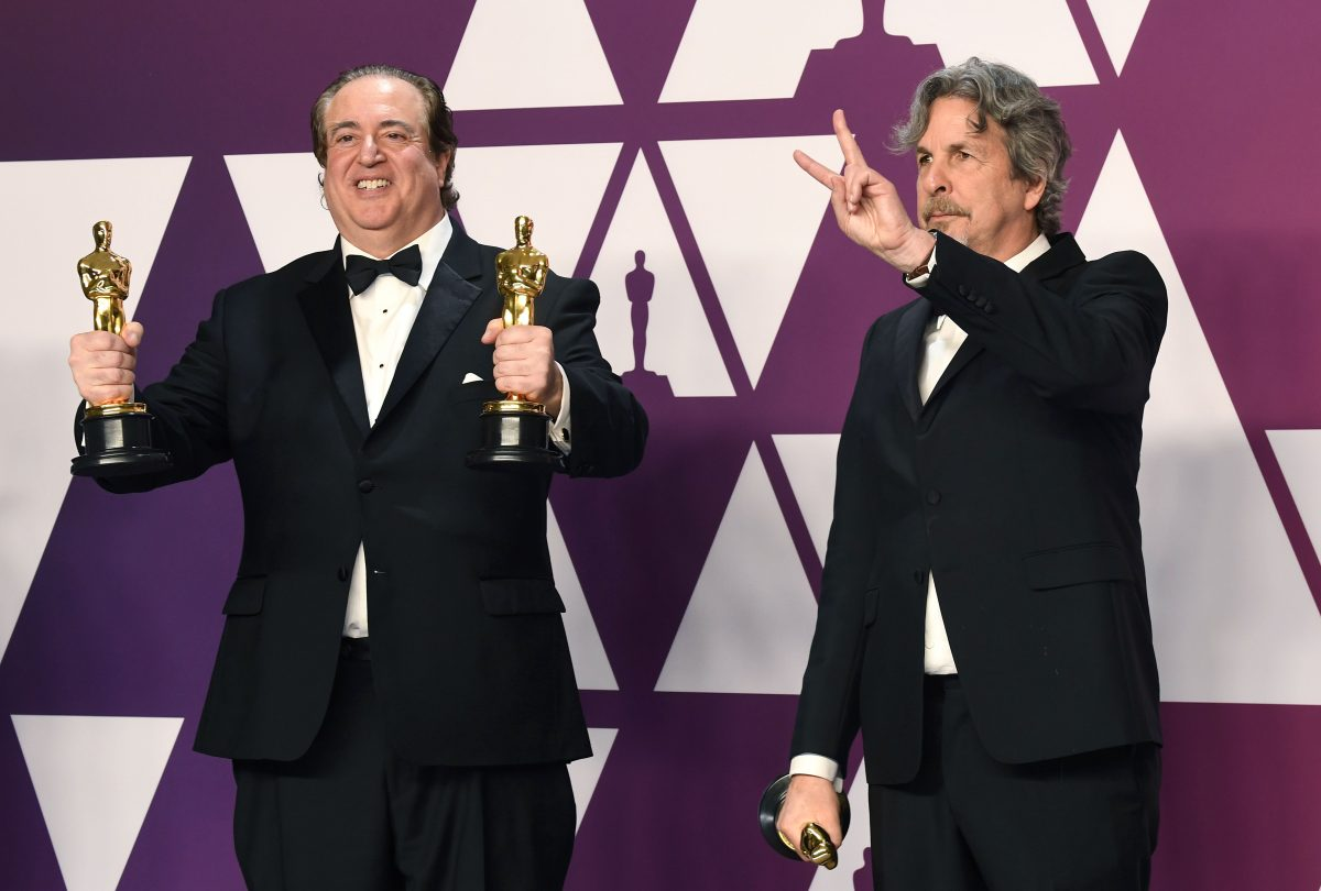 Nick Vallelonga and Peter Farrelly winning an Oscar for trash