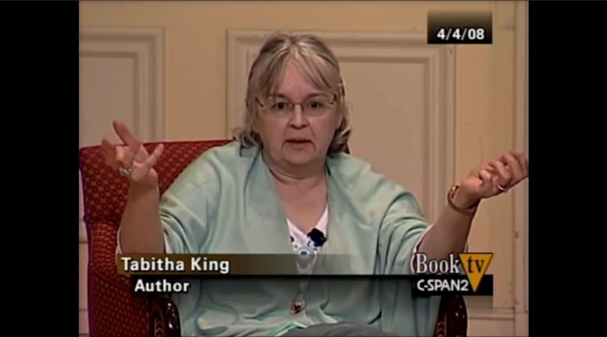 Tabitha King in conversation with her husband Stephen King and son Owen King on Book TV on C-SPAN2.