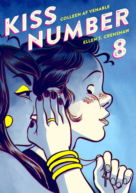 Kiss Number 8 book cover by writer Colleen AF Venable and illustrator Ellen T. Crenshaw