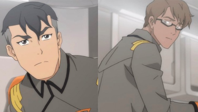 adam and shiro in voltron legendary defender