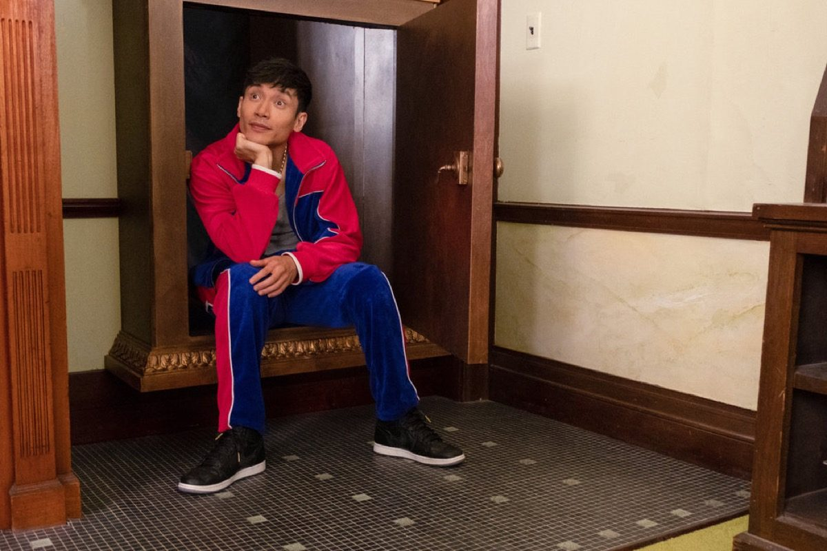 "THE GOOD PLACE -- ""The Book of Dougs"" Episode 311 -- Pictured: Manny Jacinto as Jason -- (Photo by: Colleen Hayes/NBC)"