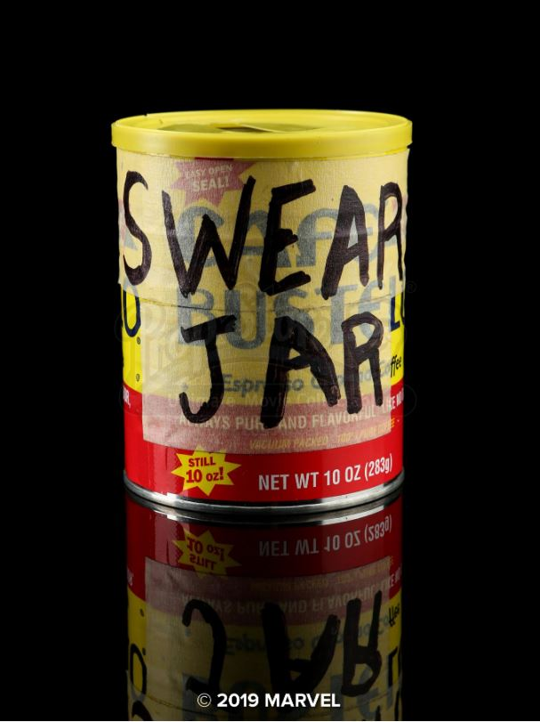 pop's swear jar from luke cage will remind you to clean up your language.