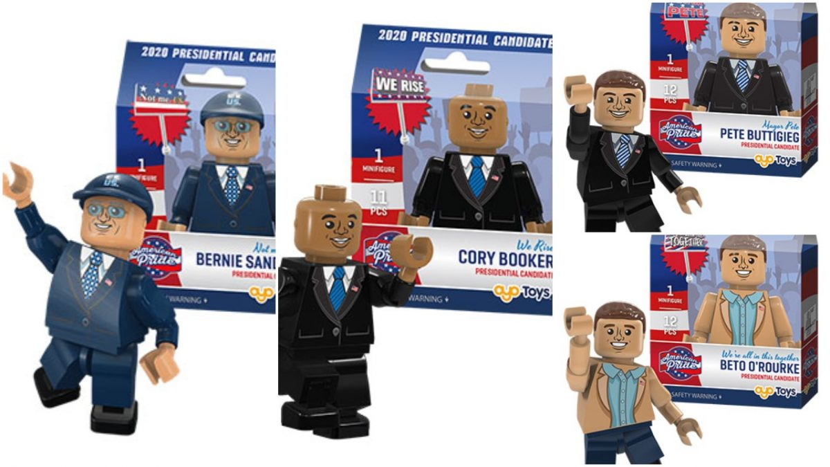 Minifigs of 2020 presidential candidates, sans any women