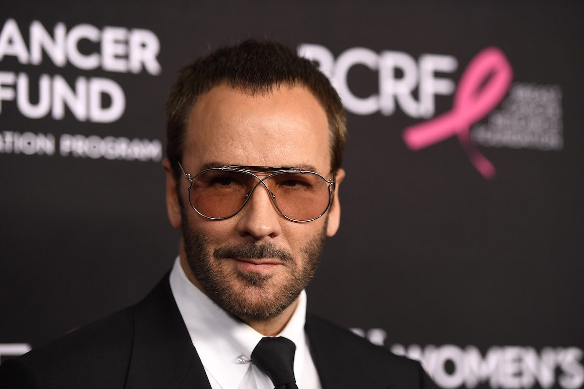 Designer/director Tom Ford on the red carpet, not insulting Melania Trump
