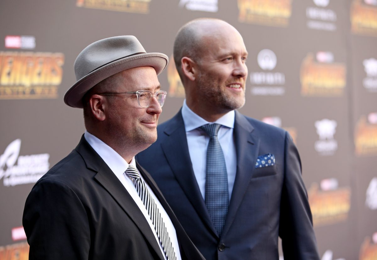 Screenwriters Christopher Markus (L) and Stephen McFeely attend the Los Angeles Global Premiere for Marvel Studios Avengers: Infinity War on April 23, 2018 in Hollywood, California.