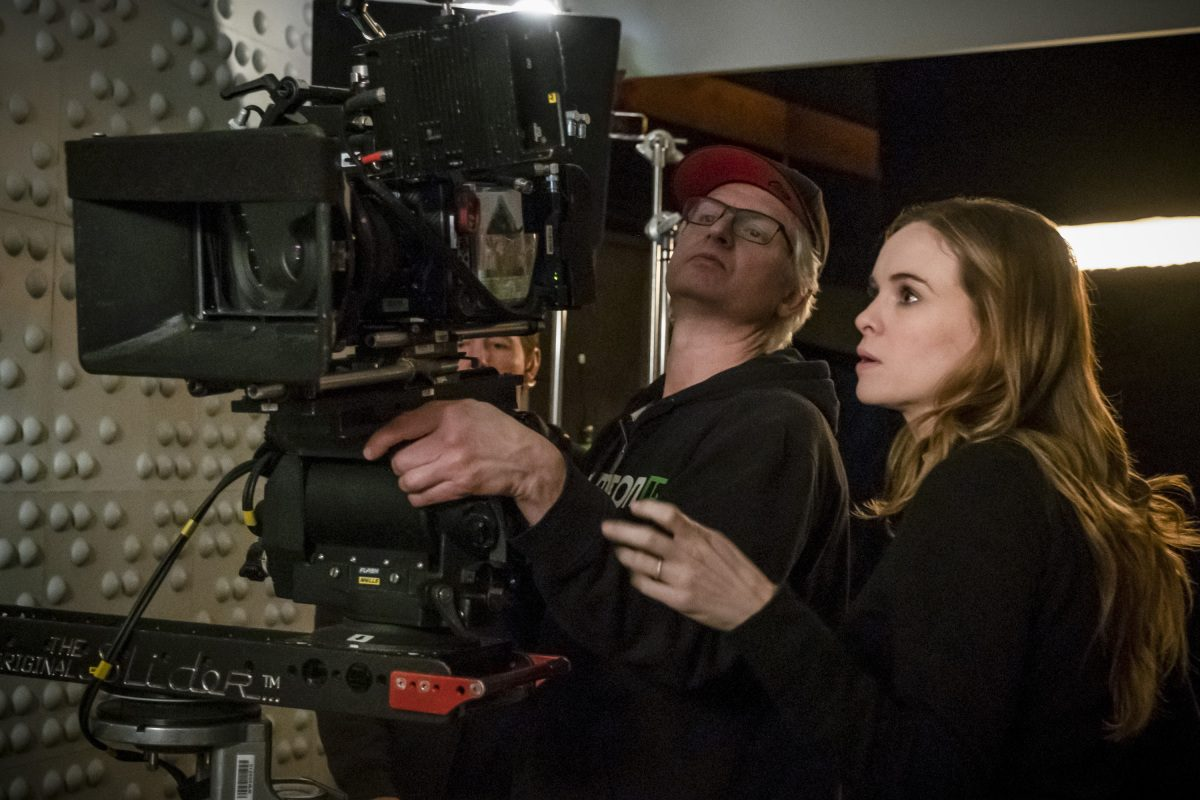 Pictured: Behind the Scenes with Director Danielle Panabaker.