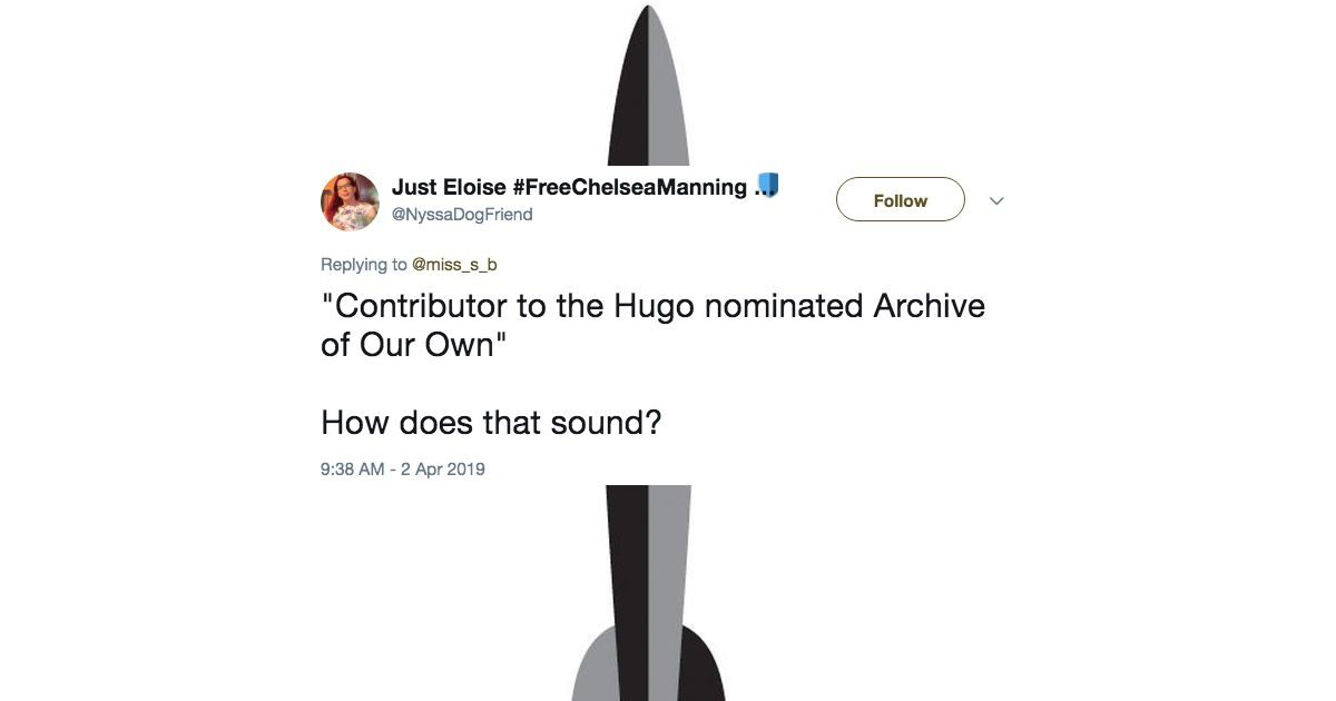 Archive of Our Own Hugo nomination