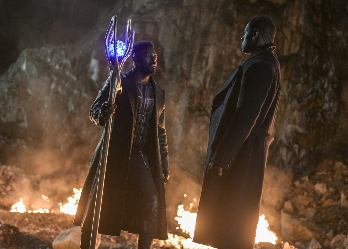 David Ajala as Manchester Black and David Harewood as Hank Henshaw/JÕonn JÕonzz on The CW's Supergirl.