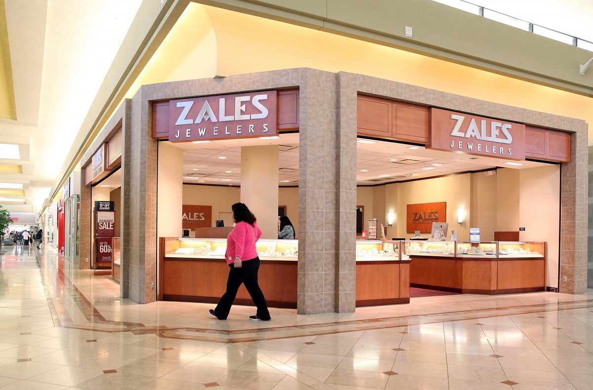 A shopper walks by a Zales Jewelers store at the Serramonte Mall on February 19, 2014 in Daly City, California.