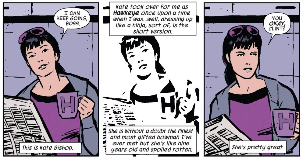 Kate Bishop in Marvel Comics.