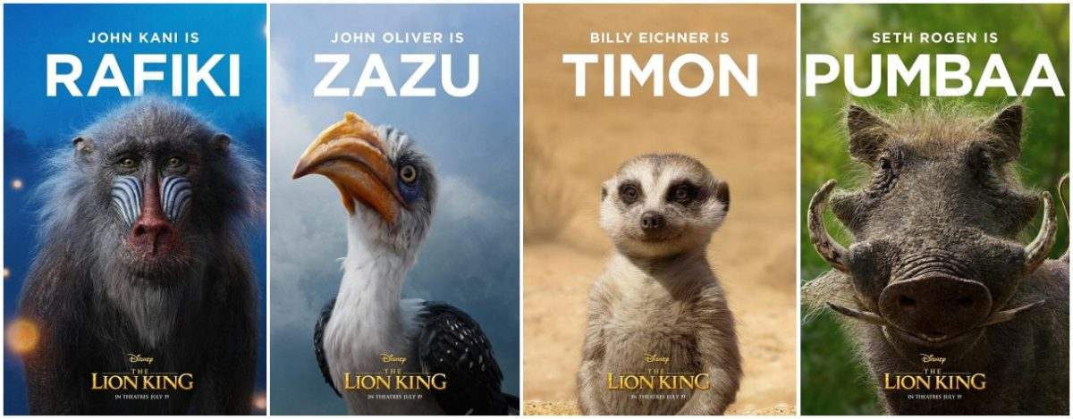 Lion King Character Posters Just Look Like Lions The Mary Sue