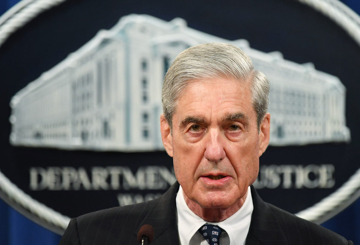 Special Counsel Robert Mueller speaks on the investigation into Russian interference in the 2016 Presidential election, at the US Justice Department