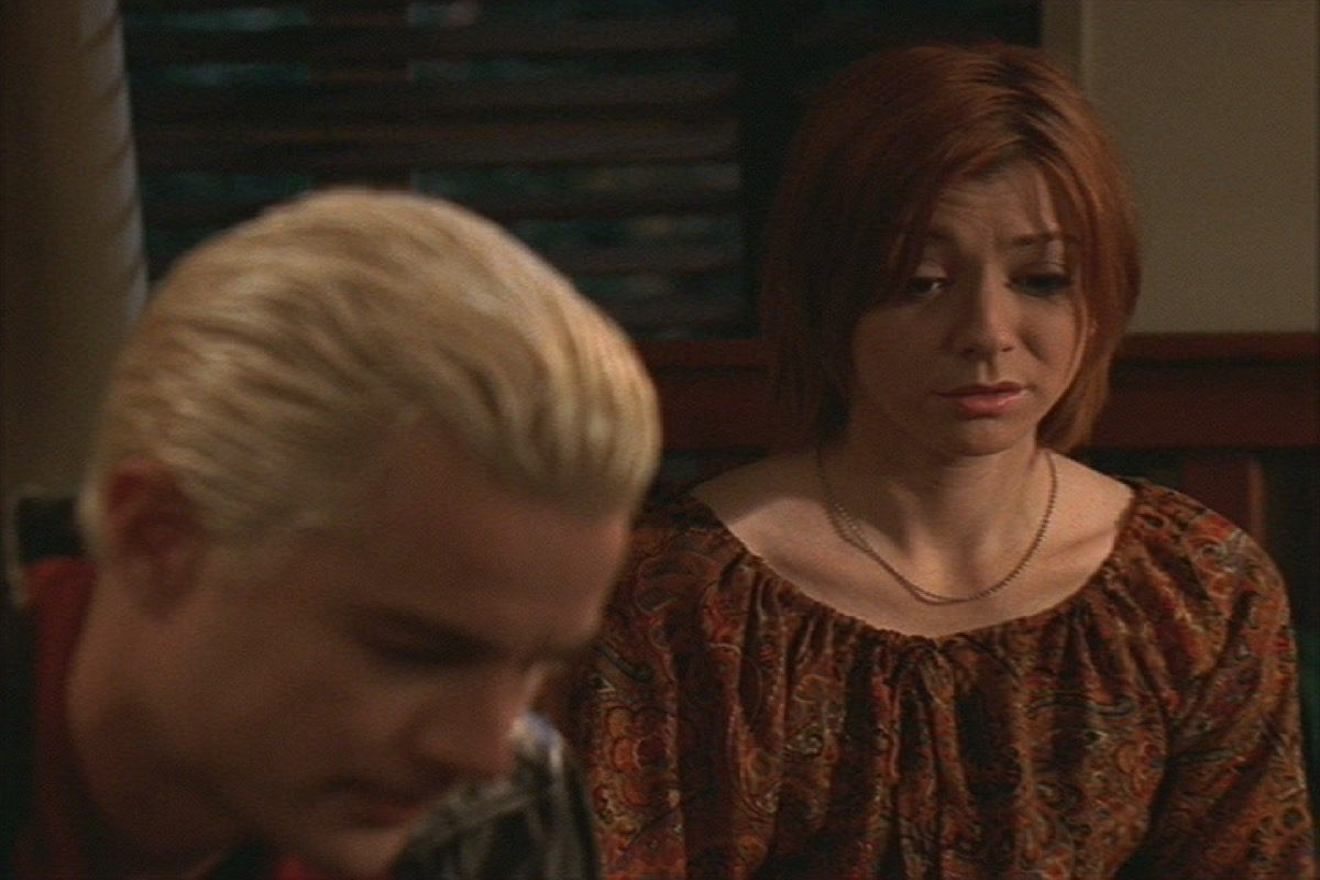 Willow and Spike on Buffy the Vampire Slayer.