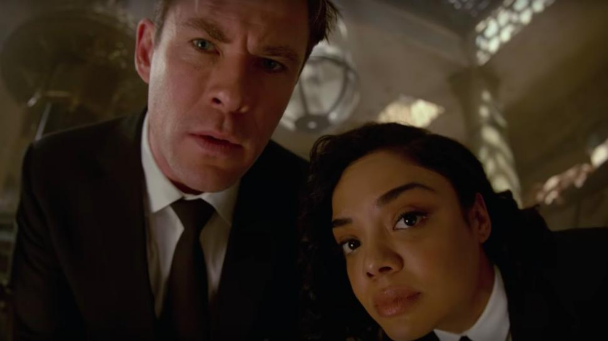 Two very pretty people Tessa Thompson and Chris Hemsworth in Men in Black International