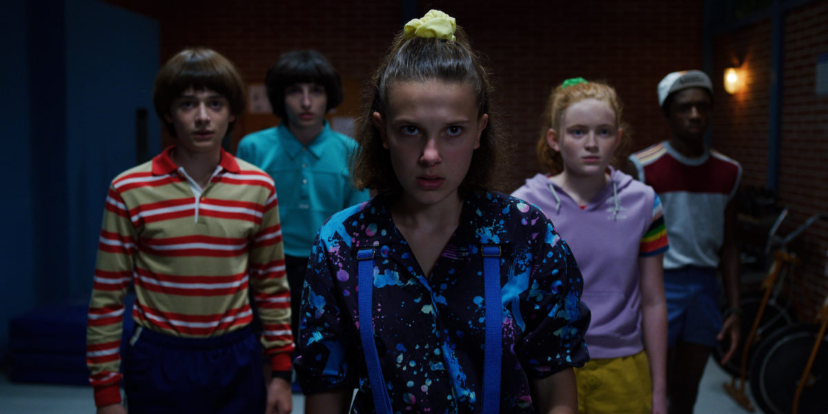 Eleven and the kids face off against evil in Stranger Things.