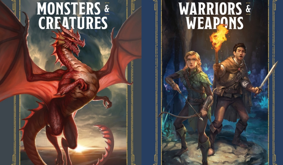 Warriors and Weapons ; Monsters and Creatures A YOUNG ADVENTURER'S GUIDE By DUNGEONS & DRAGONS, JIM ZUB, STACY KING and ANDREW WHEELER