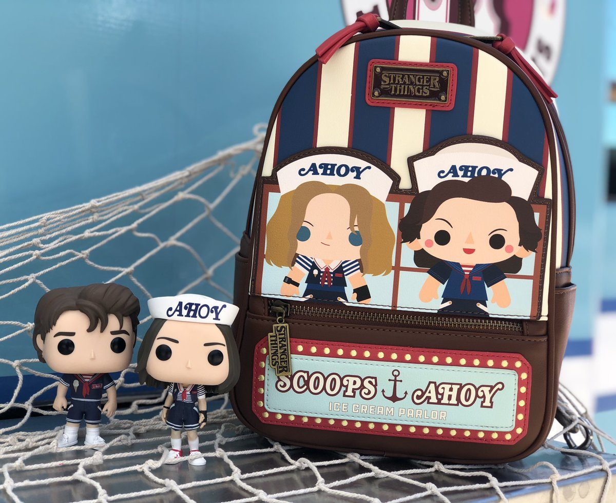 stranger things scoops ahoy backpack from loungefly