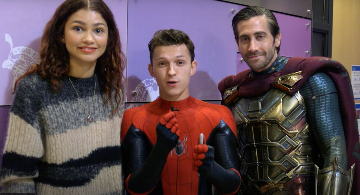 Zendaya, Tom Holland, and Jake Gyllenhaal all teamed up to bring smiles to children's faces at the Children's Hospital of Los Angeles.